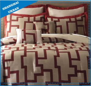 Red Hotel Collection Duvet Cover Cotton Bedding Set pictures & photos