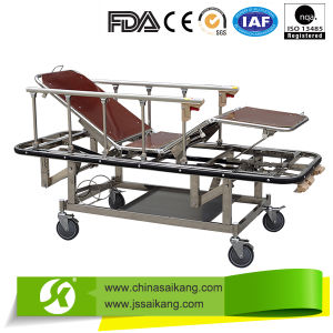 Hospital Furniture Simple Patient Trolley Used for Transport Patient pictures & photos
