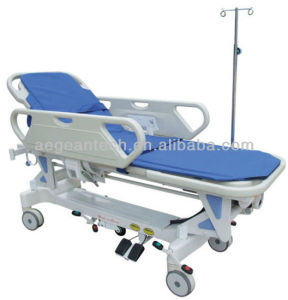 AG-HS009 with ABS Handrail Durable Electric Ambulance Cart pictures & photos