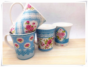 Flower Surface 10 Oz Ceramic Mug for Promotion Gift pictures & photos
