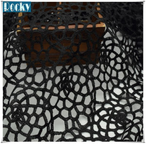 """52"""" Black Polyester Lace Fabric for Dress DIY Sewing pictures & photos"""