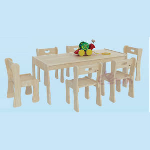 Special Design High Quality Nature Logs Table for Six Children pictures & photos