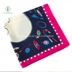 60*60cm Twill Silk Printed Cravat Fashionsquare Gift Scarf Factory pictures & photos