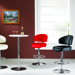 Modren Comfortable PU Leather Bar Chair with Chrome Leg (SP-HBC369) pictures & photos