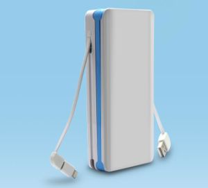 4000mAh portable power bank with LED lamp supply pictures & photos