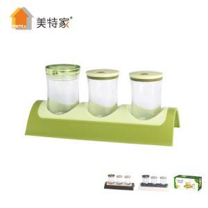 6464 Kitchen Combination Seasoning Cruet Set 3 Cans pictures & photos