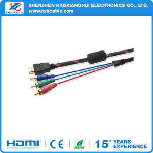 Gold Plated HDMI to 3RCA Audio Video Cable for Multimedia pictures & photos