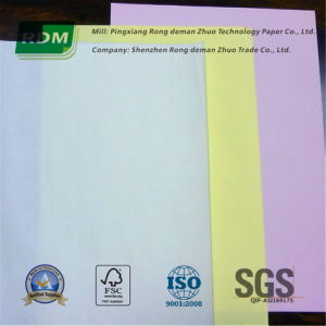 Straight Collated or Reverse Collated Carbonless Paper Sheets for Laser Printers pictures & photos