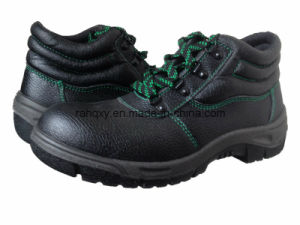 Basic Embossed Leather Safety Shoe (HQ602) pictures & photos