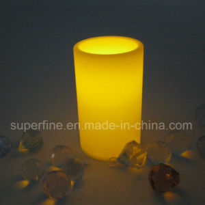 Small Flameless Plastic Battery Electric Artificial Passageway Pillar LED Candles pictures & photos