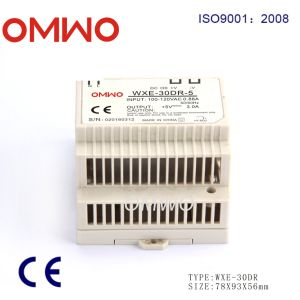 Omwo Wxe-30dr-5 DIN Rail Single Output Switching Power Supply pictures & photos