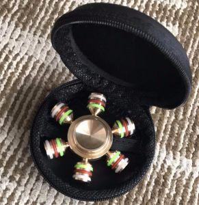 Wholesale Six Sides Fidget Spinner Toy Copper Metal Fidget pictures & photos