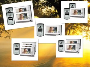 7 Inch LCD Color Video Door Phone Intercom System Weatherproof Night Vision Camera pictures & photos