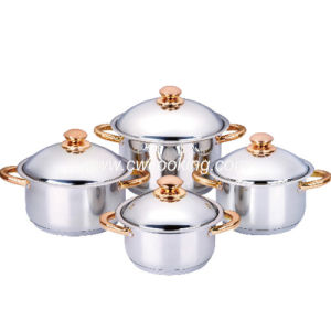 8PCS Stainless Steel Cookware Set with Wide Edge Casserole pictures & photos