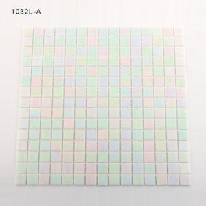 Building Materials White Mini Bathroom Tiles USA Glass Mosaic pictures & photos