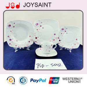 (18 PCS) China Supplier Porcelain Food Tableware Ceramic Dinner Sets Plate pictures & photos