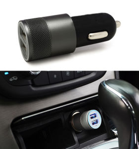 Promotional Portable Dual USB Car Charger for Smart Device pictures & photos