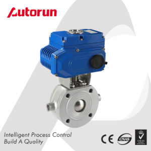 Wenzhou Supplier Thermostatic Ball Valve with Electric Actuator pictures & photos