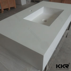 Custom Made Solid Surface Kitchen Countertop Marble Bathroom Vanity pictures & photos