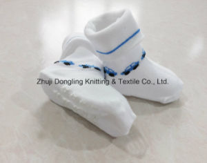 100% Cotton and Anti Slip Baby Socks pictures & photos