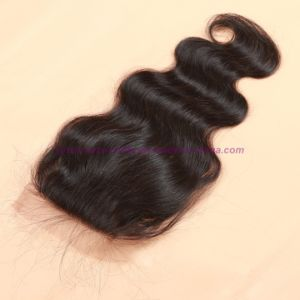 8A Virgin Human Hair Silk Base Closure Unprocessed Mongolian Hair Body Wave Closures pictures & photos