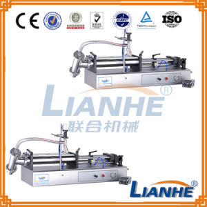 Horizontal Self-Suction Type Cosmetic Lotion Shampoo Filling Machine pictures & photos