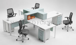 Modern Commercial 4 Seater Office Workstation Round Office Cubicles (SZ-WS909) pictures & photos