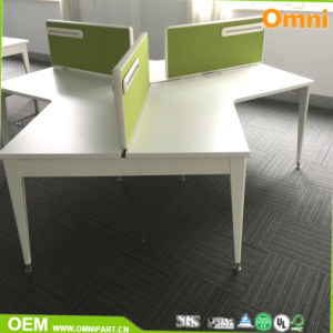Fashionable 120 Degree Office Desk for Three Person pictures & photos