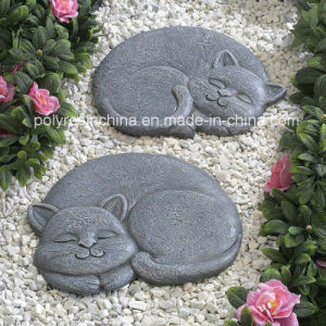 Polyresin Stepping Stone of Sleeping Cat pictures & photos