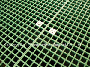 Gratings with Saddle Clips, Gritted Glassfiber, Fiberglass Reinforced Plastic Grating. pictures & photos
