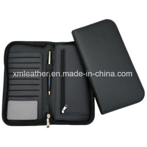 Leather Travel Document Organizer Wallet with Pen Holder pictures & photos