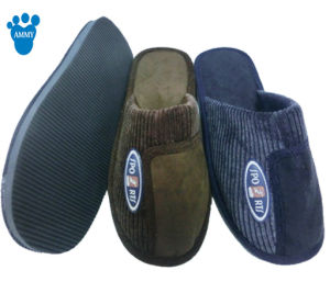 Soft Men Indoor Warm Slippers for Winter pictures & photos
