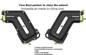 Outdoor Waterproof Multifunctional Power Bank 6700mAh with Reddot Design Award & Golden Pin Design Award & Mei Awards