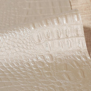 Crocodile Pattern PU Leather for Furniture (HS-M385) pictures & photos