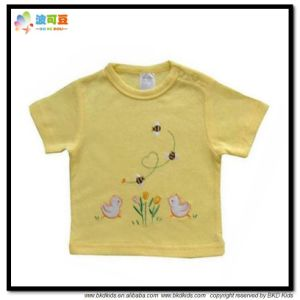 Yellow Color Baby Clothes Short Sleeve Baby T-Shirt pictures & photos