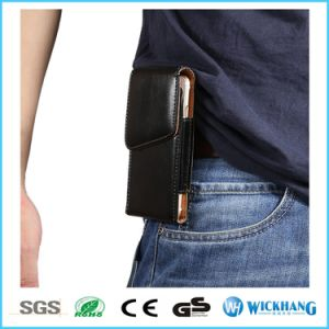Vertical Glossy Leather Waist Belt Clip Holster Phone Case pictures & photos