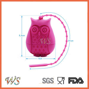 Ws-If057 Food Grade Silicone Mini Owl Tea Infuser Set Leaf Strainer for Mug Cup, Tea Pot pictures & photos