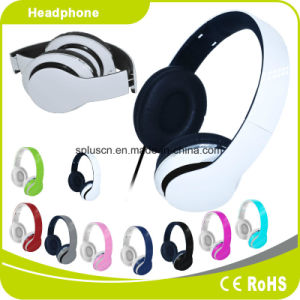 White Colorful Customized Logo Perfect Sound Effect Music Headphone pictures & photos