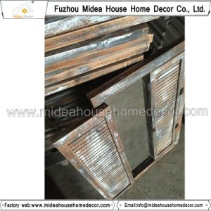 Hand Made Distressed White Wooden Mirror pictures & photos
