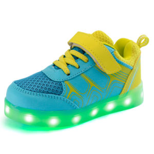 Globe Best Sell Flashing Sport Shoes Mesh Casual Shoes in Factory pictures & photos