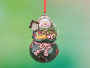 Christmas Decoration Set of 6 Ceramic Santa Claus Ornaments pictures & photos