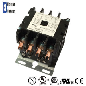 Hcdp Series Types of AC Magnetic Contactor 3 Phase AC Contactor 4p 240V 25A pictures & photos