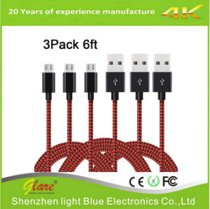 High Speed Nylon Braided USB 2.0 Micro B Sync and Charge Cable pictures & photos
