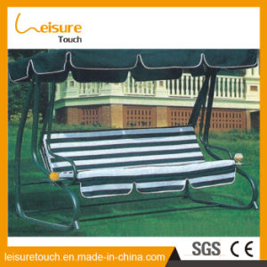 High Quality Polyester Fabric Patio Rattan Hanging Swing Chair pictures & photos