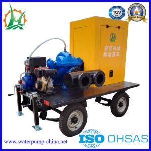 Trash Diesel Engine Dewatering Split Case Water Pump Trailer pictures & photos