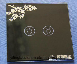 Touch Switch Panel Glass with Silk Screen Printed Color Pattern pictures & photos