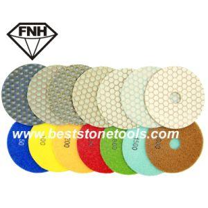 Honeycomb Diamond Dry Polishing Pad for Granite Marble Sandstone Concrete pictures & photos
