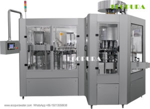Energy Drink / Fruit Juice / Tea Hot Filling Machine (3-in-1 Monobloc Bottling Machine) pictures & photos