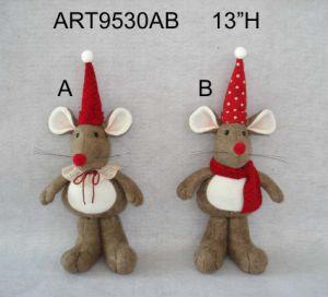 "8""H Christmas Decoration Mouse Couple Holding Babies-2asst pictures & photos"