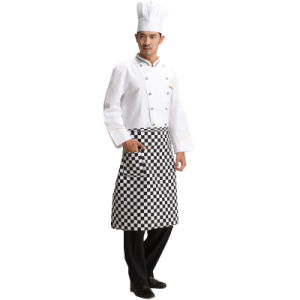 Restaurant Waiter Black Waist Apron with Pocket pictures & photos